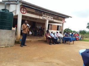 Sensibilisation la population de Gombe Matadi pour adhérer à la mutuelle de santé