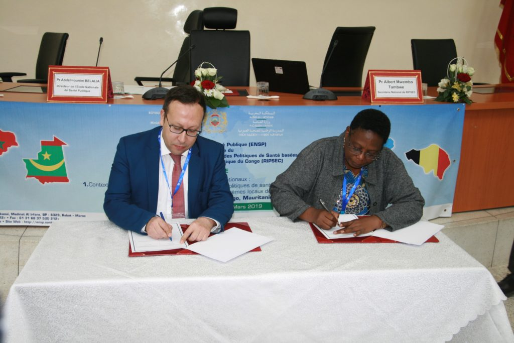 SOUTH-SOUTH and NORTH collaboration in health: signature of the agreement between ENSP-Rabat and ESP UNILU