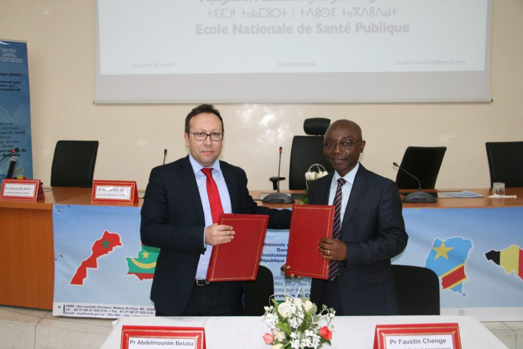 SOUTH-SOUTH and NORTH collaboration in health: Signing of the agreement between the ENSP-Rabat and the CCSC-asbl